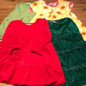 Bundle of Hanna Andersson Dresses Size 90
